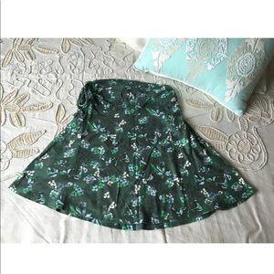 Patagonia XS lithia skirt top green floral organic